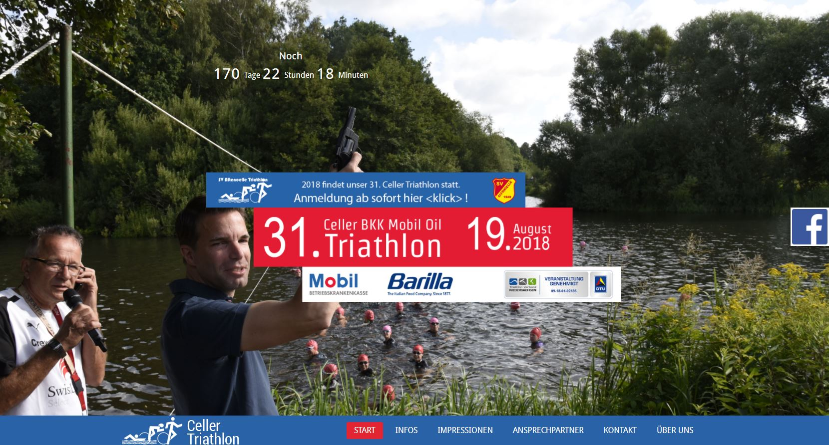 celler triathlon website screenshot